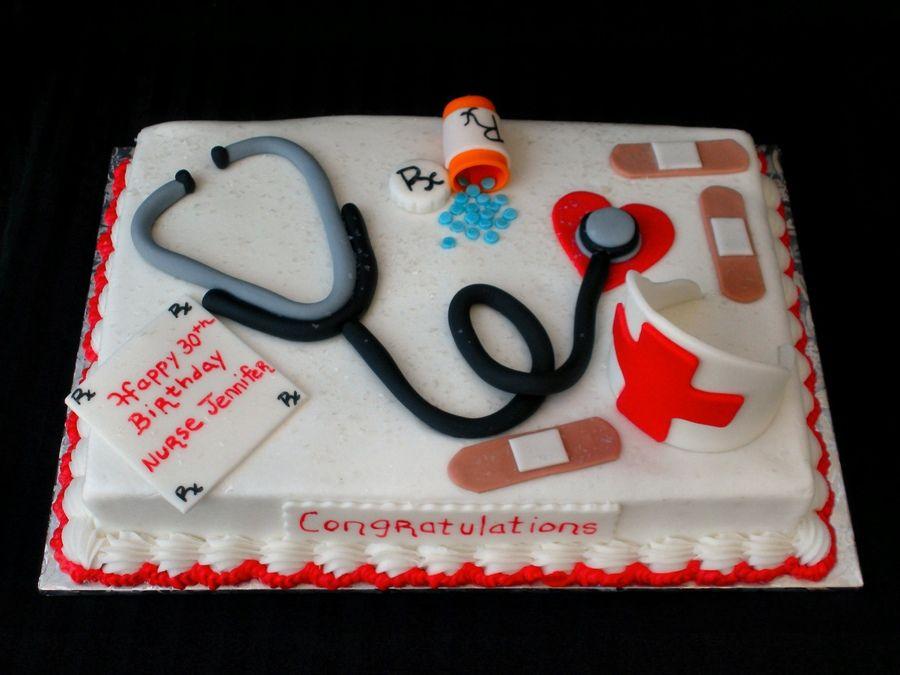 Nurses Birthday Cake CakeDoctorsDentistNursesEMT Medicial