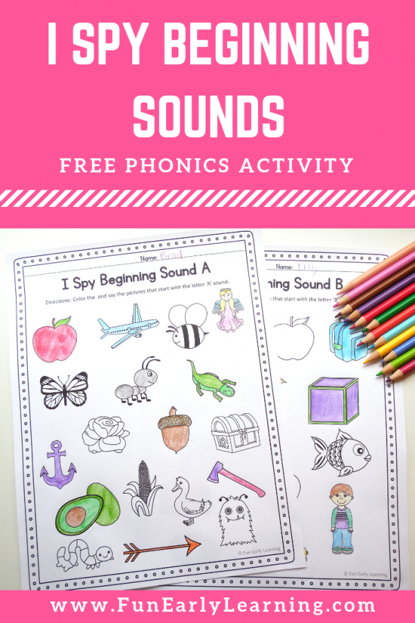 I Spy Beginning Sounds Phonics activities, Beginning