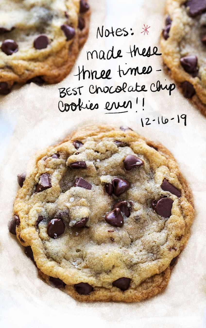 Made these as written except I didn't add the salt to the finished cookies because I don't like sweet and salty. They were a big hit. Will make this my go to recipe for chocolate chip cookies. The almost melted butter is key.