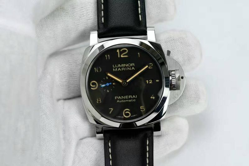 Panerai PAM 1359 S ZF 1:1 Best Edition Black Dial on Black Leather Strap ZF P9010