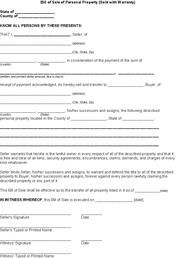 Free Printable Tractor Bill Of Sale Form Generic Free Basic