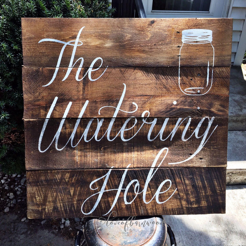 Rustic Wedding | Reclaimed Wood | Watering Hole | Pallet ...