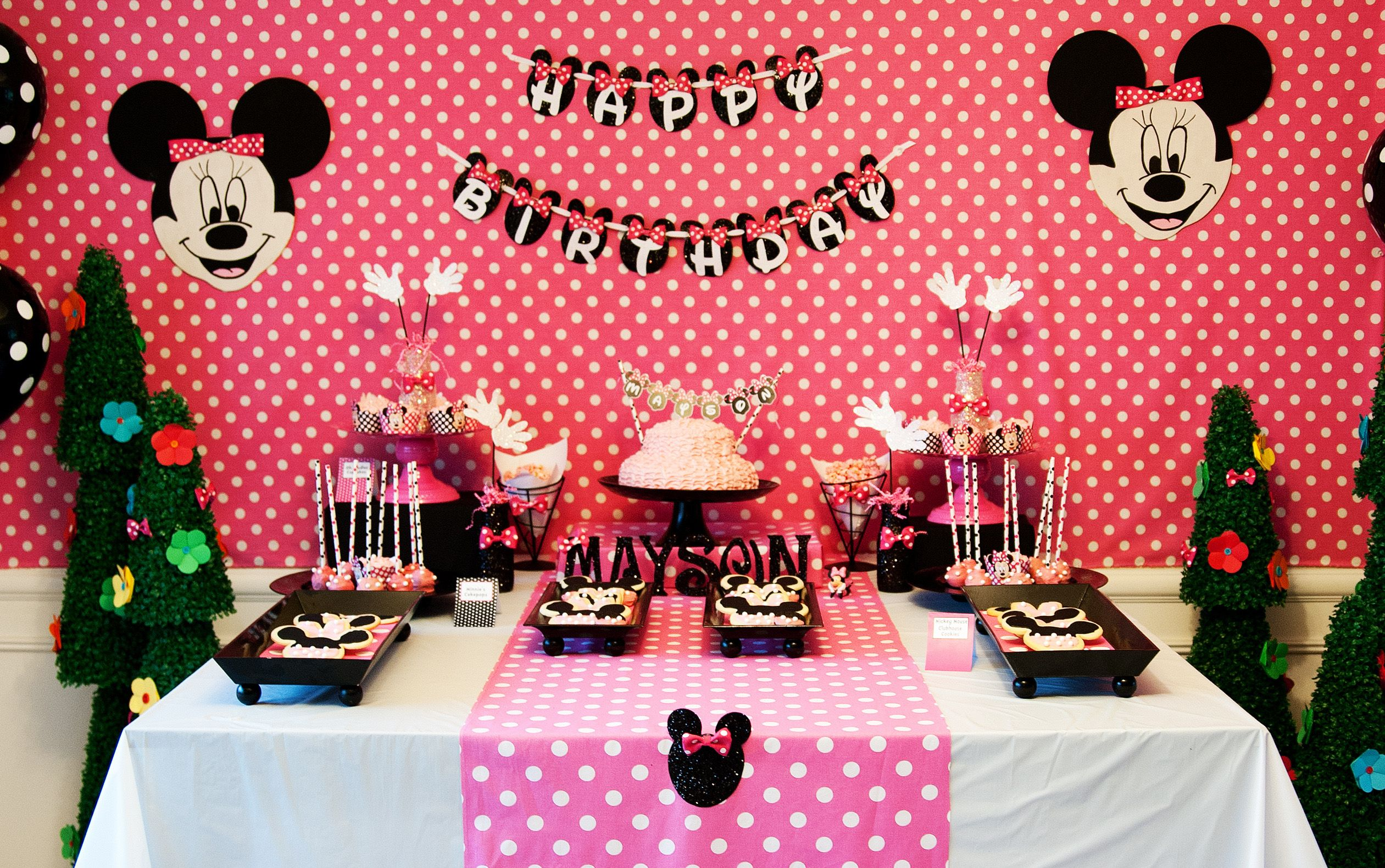 Pink minnie mouse birthday party minnie mouse party collection pink minnie mouse birthday party amipublicfo Choice Image