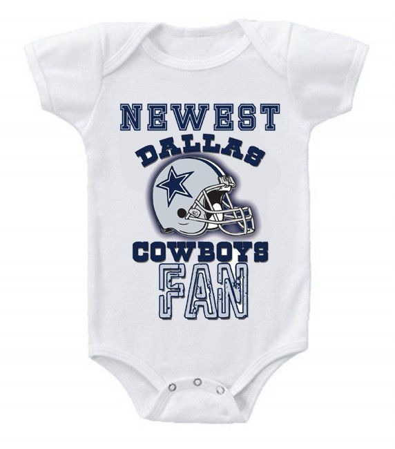 Dallas Cowboys Baby Clothes Custom New Football Baby Bodysuits Creeper Nfl Dallas Cowboys #2  Cowboys Design Decoration
