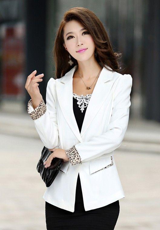 aceaef16feb9d Aliexpress.com  Comprar Primavera 2016 nueva moda americana blanca para  mujeres chaqueta delgada para