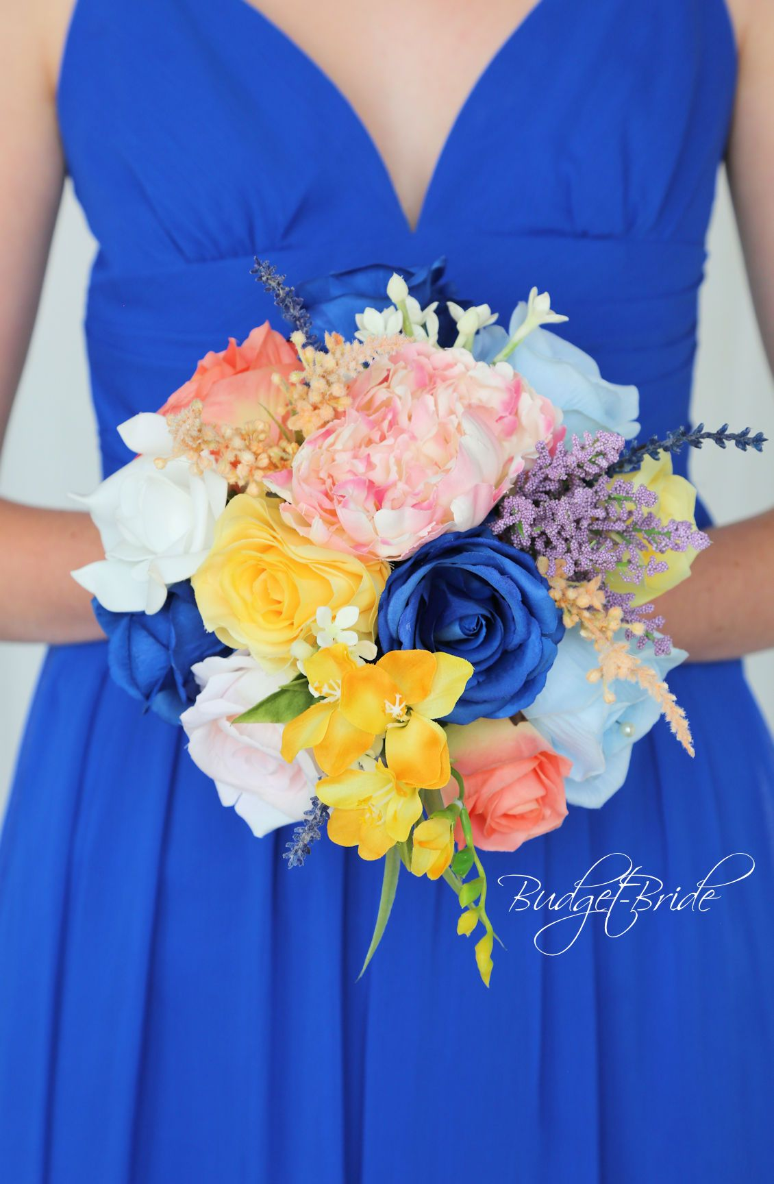 ba494af1d4 Davids Bridal Wildflower Horizon Wedding Bouquet with yellow