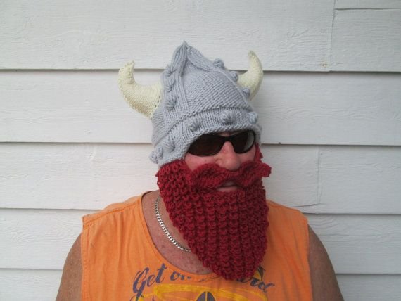 6dc5ef32c66 Viking beard hat Long Beard hat Beard Beanie Wild by Ritaknitsall hand knit   60 on etsy