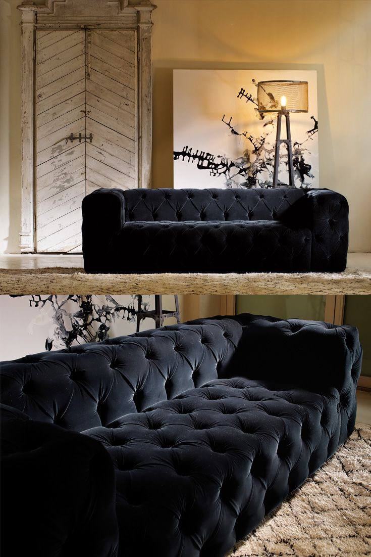 Discover the Luxurious Modern Button Upholstered Velvet