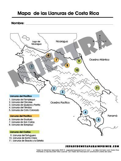 Las Llanuras de Costa Rica, llanuras del Pacífico, Llanuras del ...