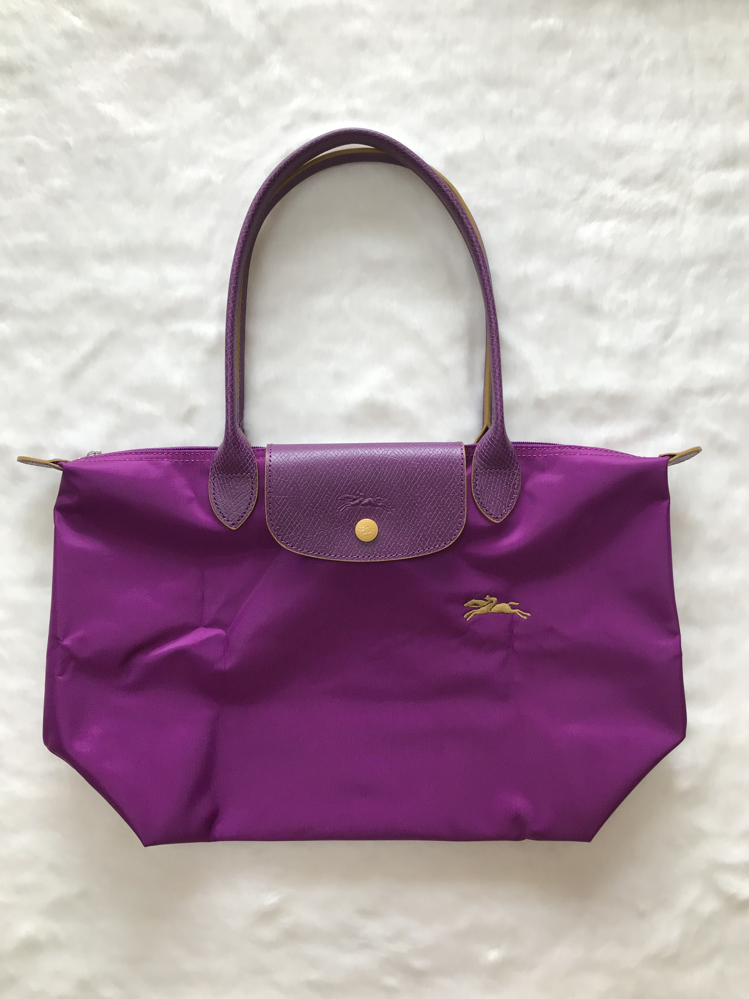 France Made Longchamp Le Pliage Club Collection Horse Embroidery ...