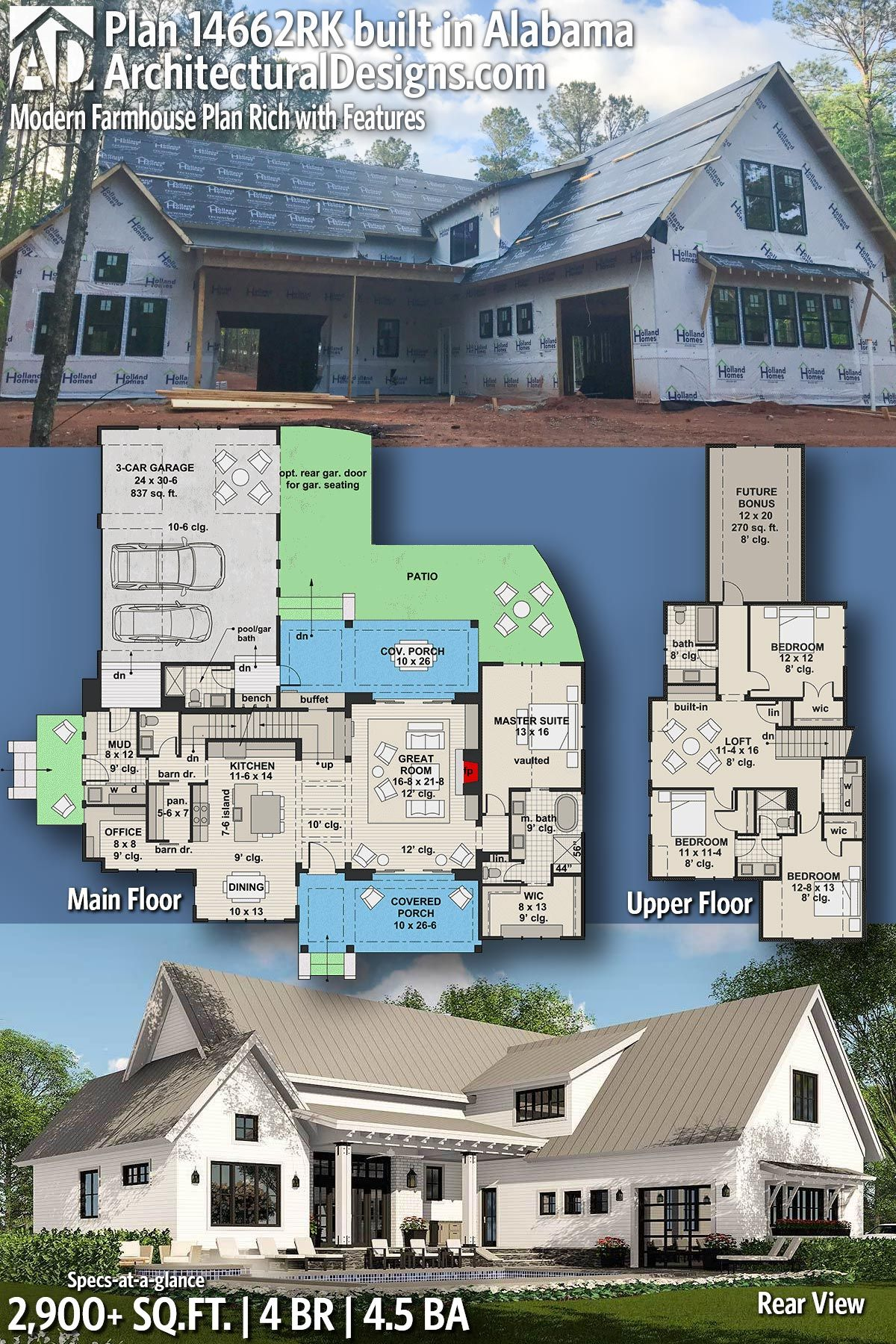 Architectural Designs House Plan 14662RK client built in