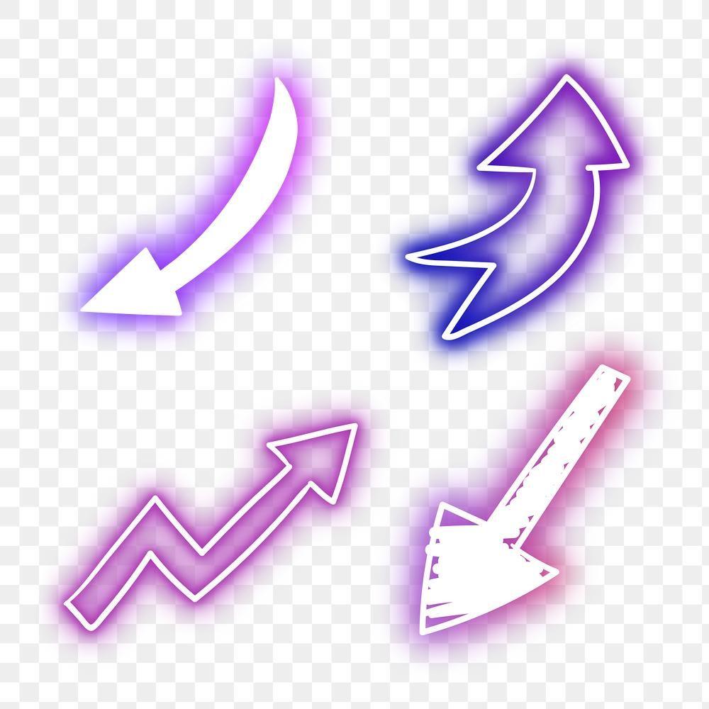 Neon Arrows Sign Set Design Element Free Image By Rawpixel Com Eve Design Element Free Illustrations Neon