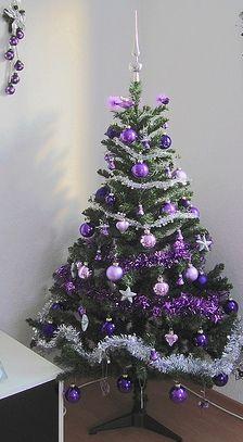 Purple And Silver Christmas Trees.Purple Silver Christmas Tree Purple Balls Lilac Balls
