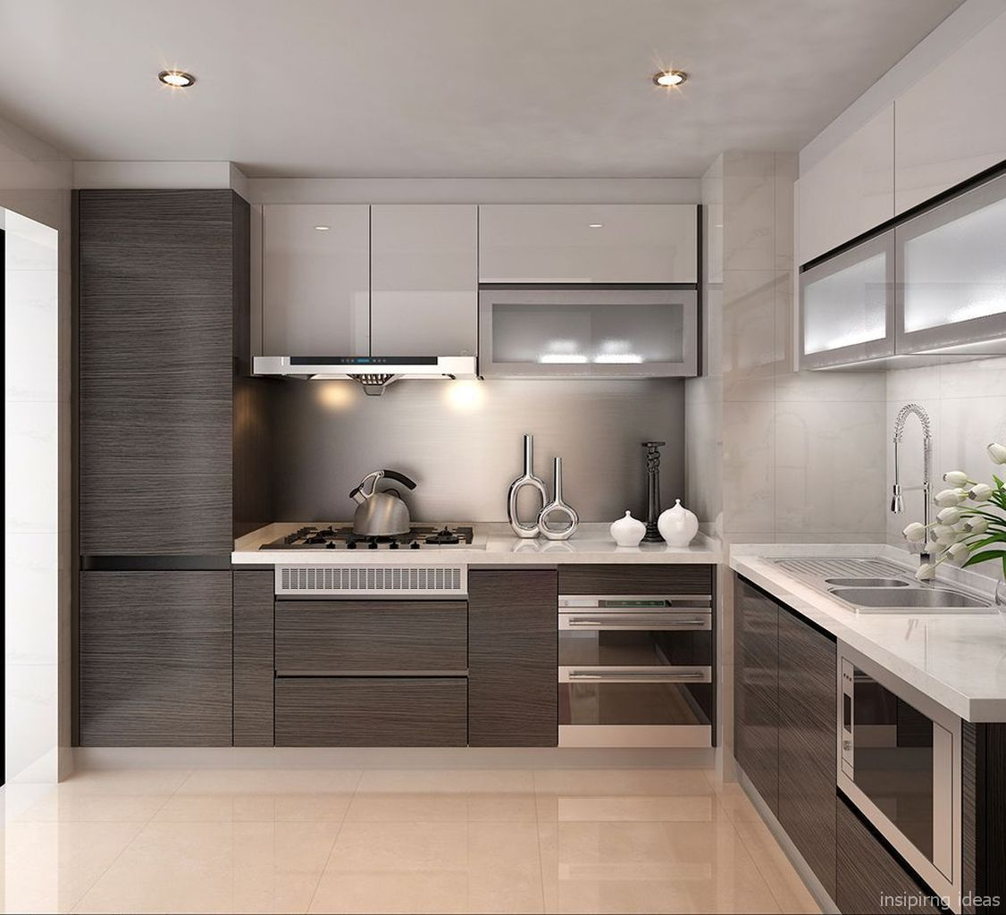 50 Small Kitchen Ideas And Designs: Fabulous Small Modern Kitchen Decor Ideas 50 în 2019