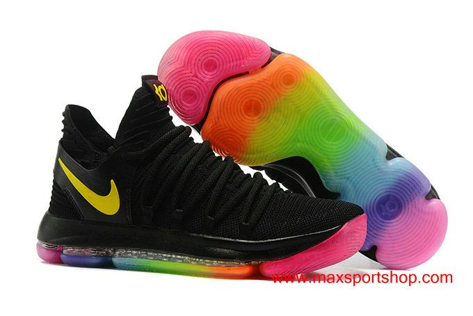WMNS Nike Zoom KDX Black Rainbow Colorful Basketball Shoes