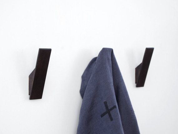 Black Scorched Ash Coat Hooks, Scandinavian or Nordic Style