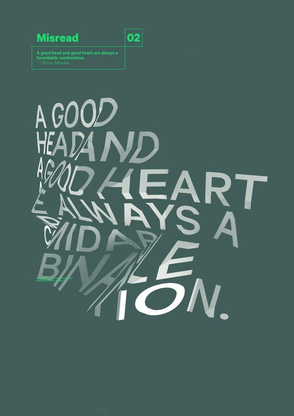 Misread - Typography Posters by Dimo Trifonov