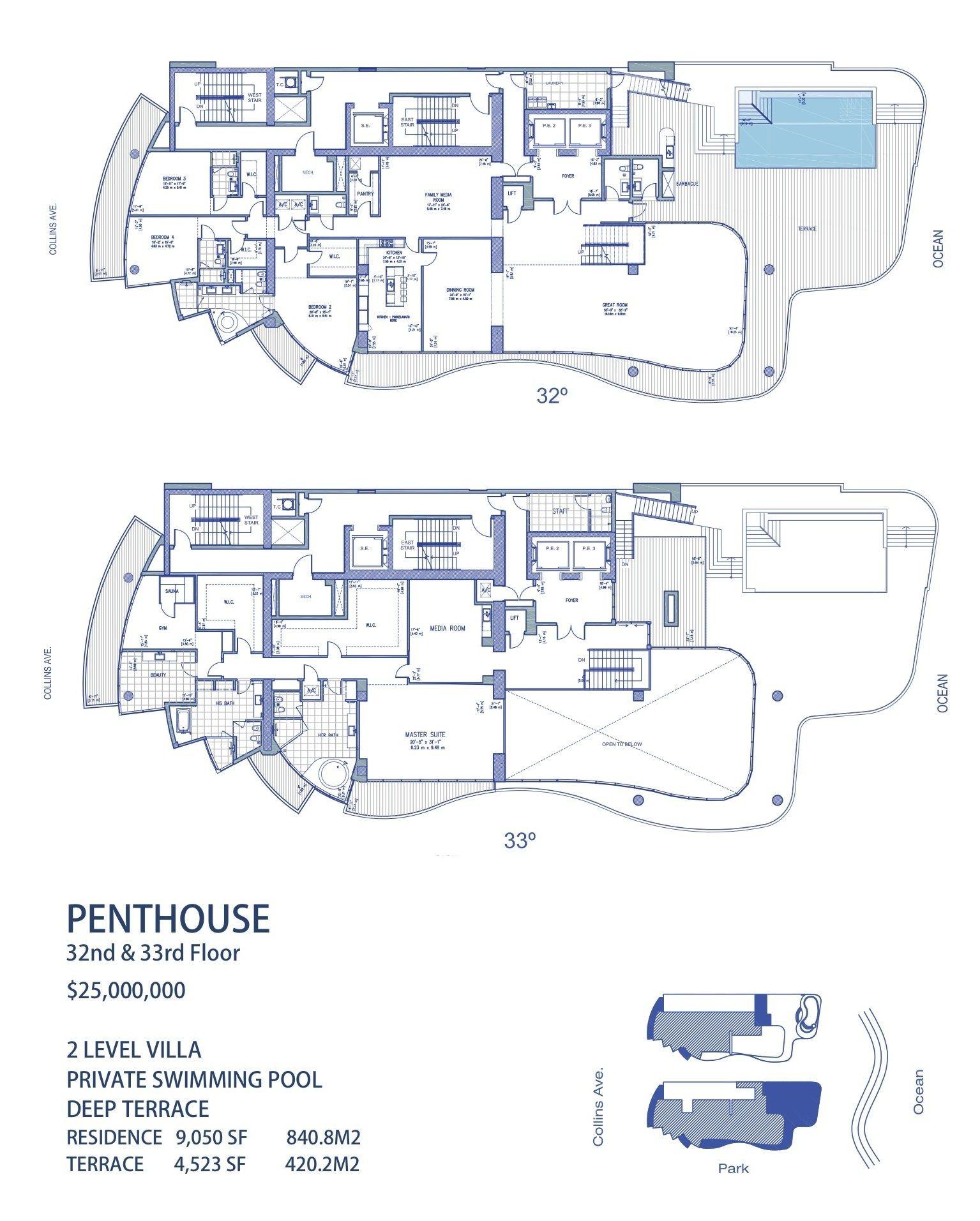 Chateau Beach Penthouse Site Duplex Floor Plans Penthouse Apartment Floor Plan Condos For Sale