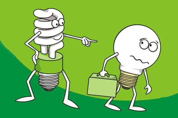 Troque suas lâmpadas por outra mais eficiente.