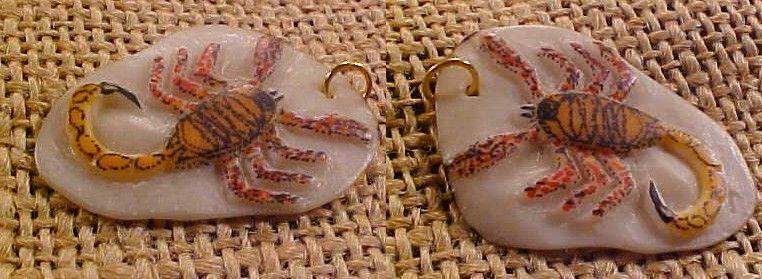 Wounaan Scorpion Tagua Pendant Jewelry-Panama #24883