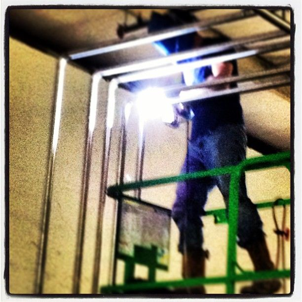 A little welding action going on. (at Tennessee Brew Works)