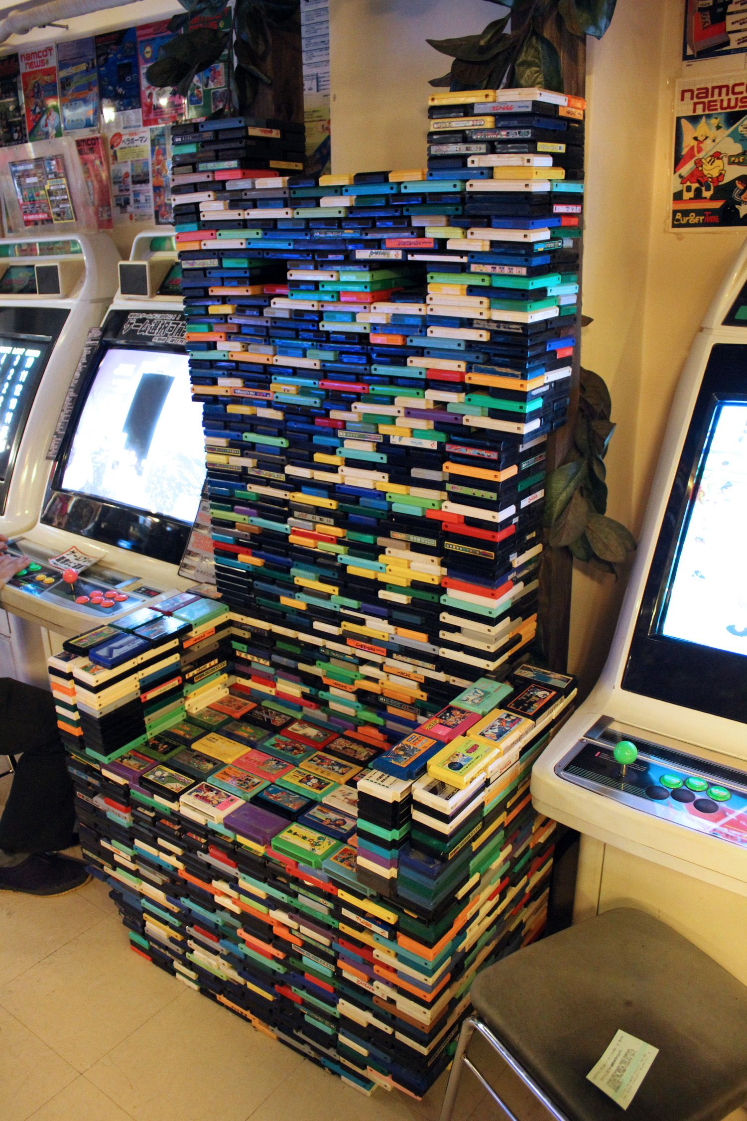 Nintendo Famicom Cartridge Throne at Super Potato