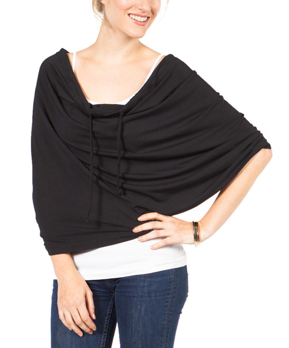 Look at this SUMMERSKIN Black UPF 50+ Endless Summer Inifinity Scarf on #zulily today!