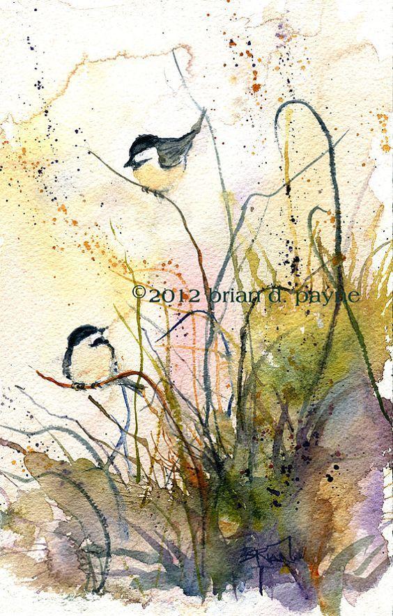 Inspiration Pinterest Avec Images Oiseau En Aquarelle