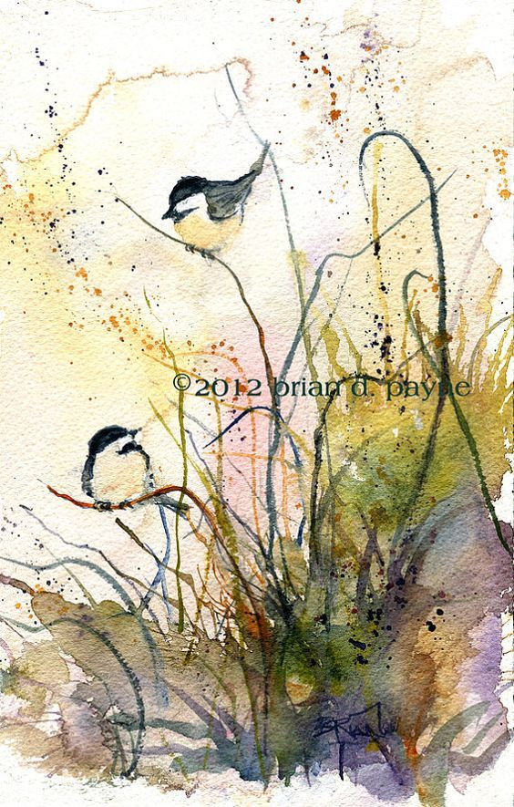 Inspiration Pinterest Oiseau En Aquarelle Peinture Oiseau