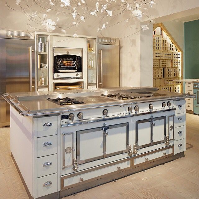 "Dream Château Kitchen With 65"" La Cornue Ovens And"