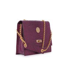 COSY BUTTERFLY Bolso púrpura de piel
