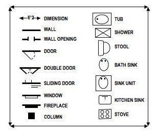 Image result for interior design floor plan symbols