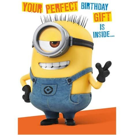Special 3D Minions Birthday Card.