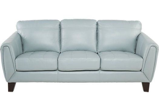 Best Livorno Aqua Leather Sofa 788 00 84W X… Blue Leather 640 x 480