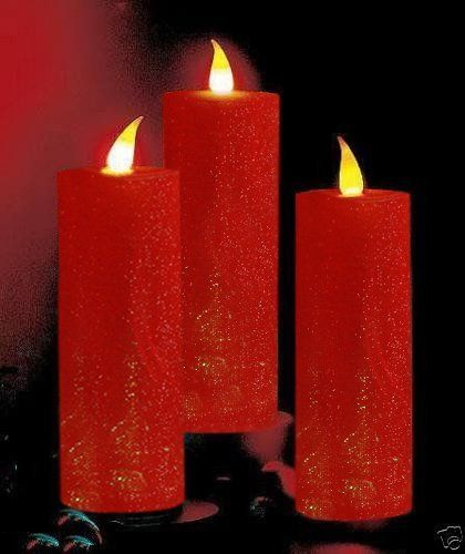 Flickering Flame Color-Changing LED 24 Candle Set PVC Christmas
