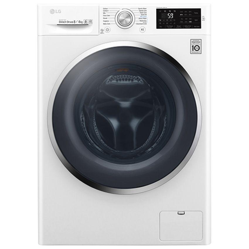 Lg F4j6am2w 8kg 4kg Direct Drive Washer Dryer 1400rpm White Appliance City Steam Washing Machine Front Loading Washing Machine Washing Machine