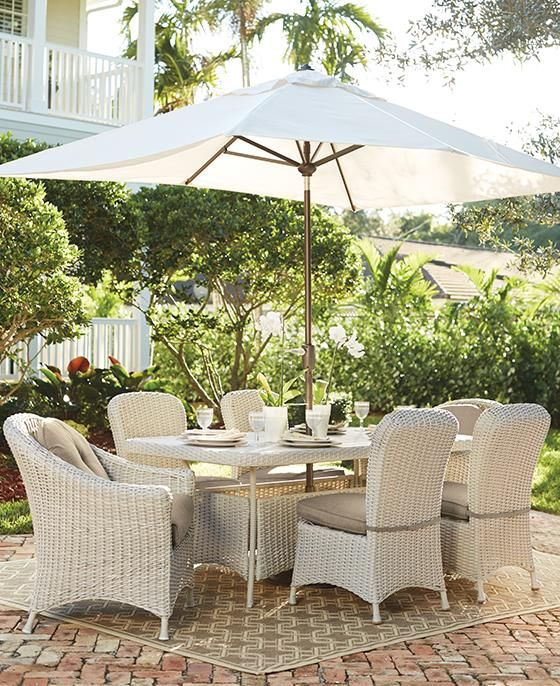 Martha Stewart Living™ Lake Adela 7-Piece Dining Set ... on Martha Stewart Wicker Patio Set id=93990