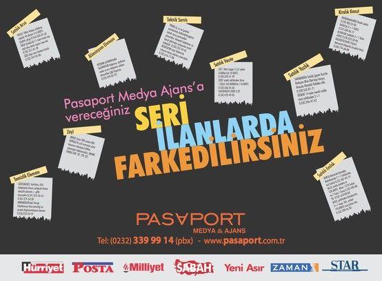 Pasaport Ajans - Seri İlanlarda Farkedilirsiniz...