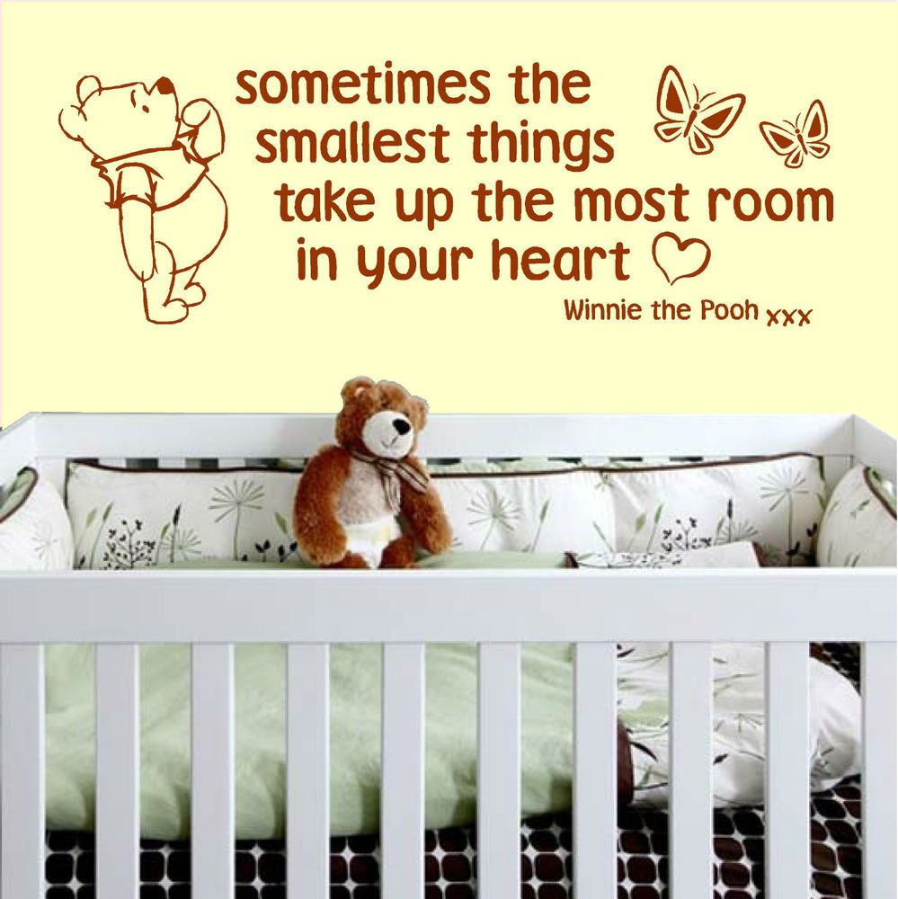 Sometimes The Smallest Things Winnie The Pooh vinyl wall art sticker ...