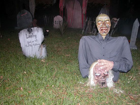 scary outdoor halloween decorations google search