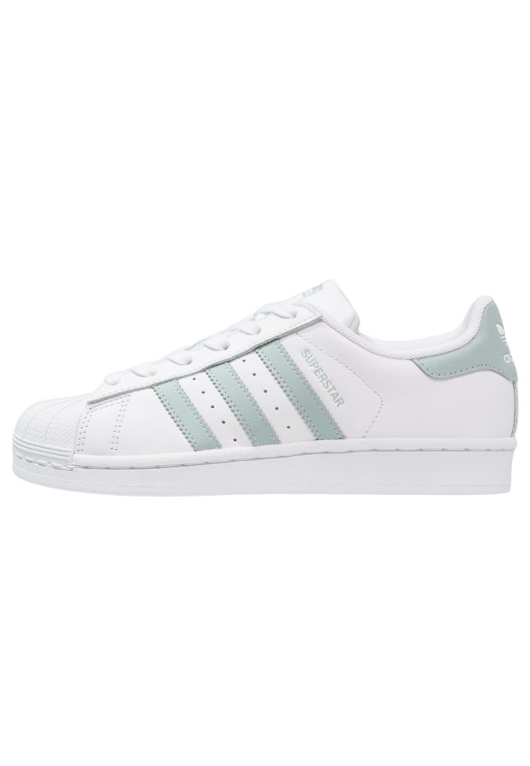 Sneakers adidas Originals SUPERSTAR - Sneakers laag - white/tactile green  wit: 99,