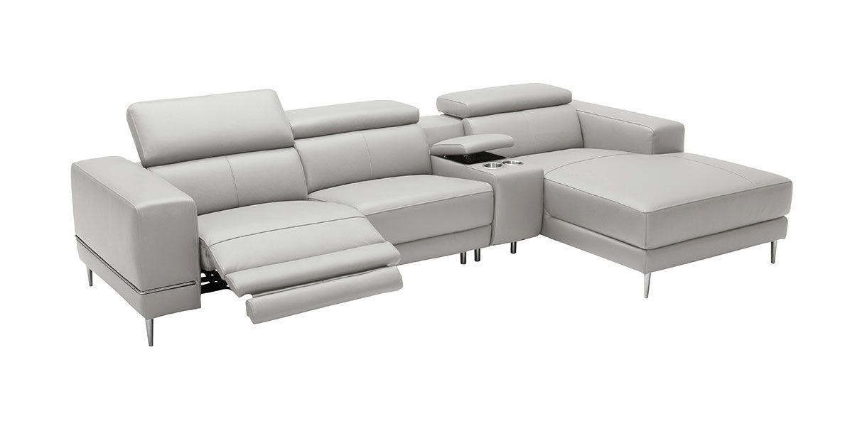 Bergamo Motion Sectional Sofa Light Gray In 2020 With Images