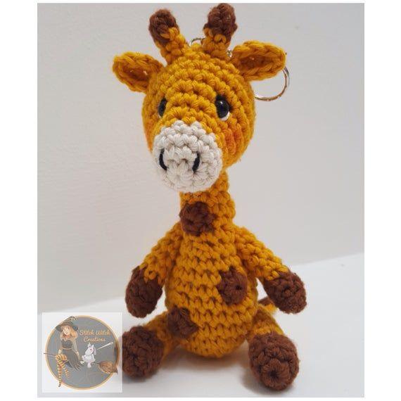 Amigurumi Crochet Mini Giraffe Pattern by Little Bear Crochets   570x570