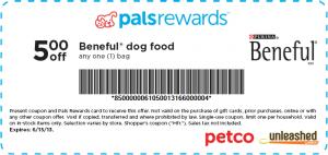 5 Off Beneful Dog Food At Petco Beneful Dog Food Dog Food Recipes Food Animals