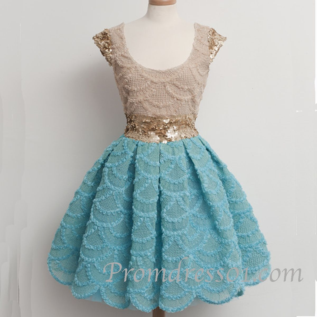 Cute vintage lace satin short prom dress | FCS Topics | Pinterest ...