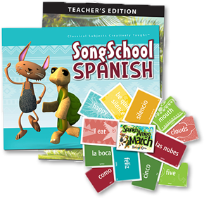 Spanish lesson plan, with songs and flashcard game.