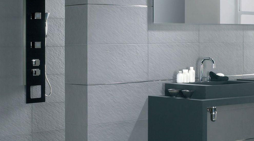 Revestimientos cuarto de ba o azulejos imitaci n piedra - Baldosas de bano ...