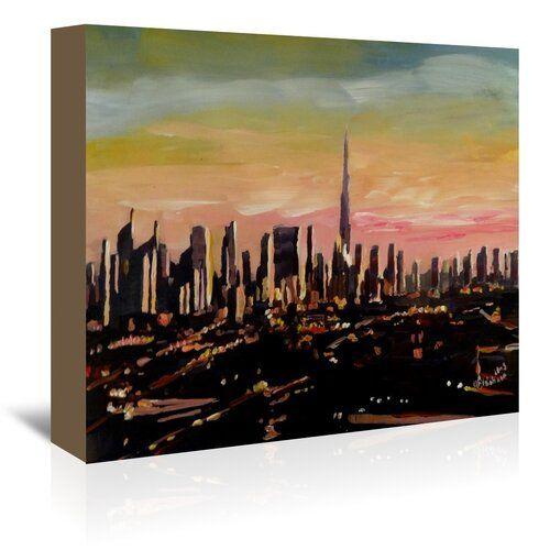 """BURJ KHALIFA DUBAI NEW A4 CANVAS GICLEE ART PRINT POSTER 11.7/"""" x 8.3/"""""""