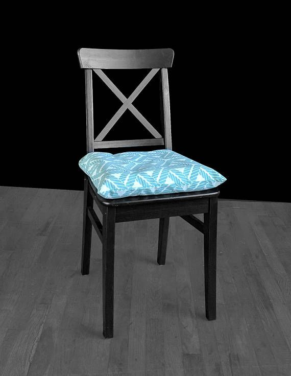 Aqua Blue Rope Ikea Malinda Chair Pad Cover Leather Dining Room Chairs Ashley Furniture Chairs Chair Pads
