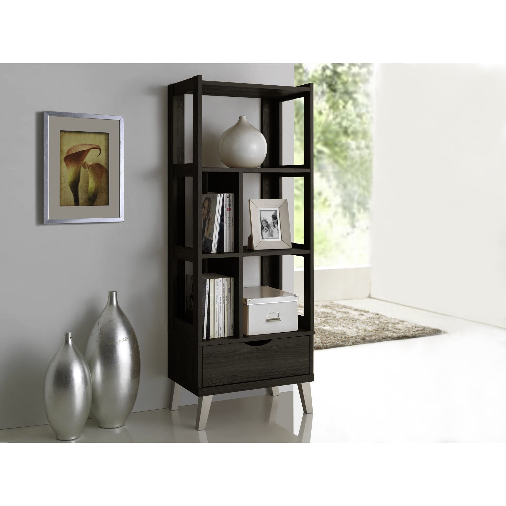 view bookcase accent gallery horizontal furniture dark wood bookcases photos intended displaying of storages for white attachment preferred